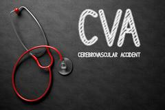 CVA Handwritten on Chalkboard. 3D Illustration Stock Illustration