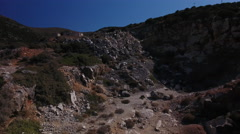 Quarry on Paros, Greece. Aerial. Stock Footage