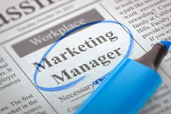 We are Hiring Marketing Manager. 3D Illustration Stock Illustration