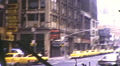 Taxis Cab NYC Street Thru Windshield Manhattan 70s Vintage Film Home Movie 10032 HD Footage