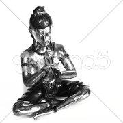 Buddha freigestellt schwarz-weiß Stock Photos