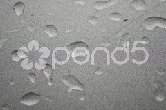 Water Drops on a Metallized Surface Stock Photos