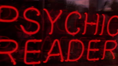 Psychic reader sign Stock Footage