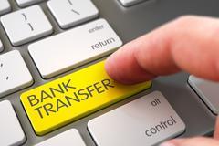 Hand Touching Bank Transfer Keypad. 3D Illustration Stock Illustration