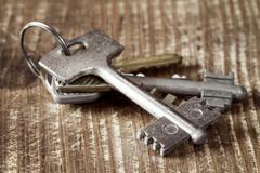 Bunch of old keys. Stock Photos
