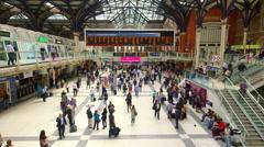 LIVERPOOL STREET STATION LONDON ENGLAND Stock Footage