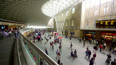 PASSENGERS KINGS CROSS RAILWAY STATION LONDON Stock Footage