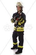 Junge Feuerwehrfrau in Uniform Kuvituskuvat