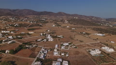 Aerial of inland and coast of Greek island. Stock Footage