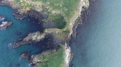 Birds Eye View High Above Ireland Island and Birds Stock Footage