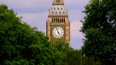 BIG BEN QUEEN ELIZABETH CLOCK TOWER LONDON ENGLAND Stock Footage