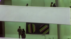 People in Interior Guggenheim Museum NYC 1970s Vintage Film Home Movie 10019 Stock Footage