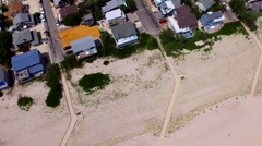 Facing West - Long Beach Island Drone 2016 Stock Footage