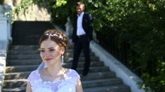 Bride and groom Stock Footage