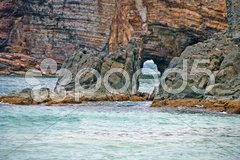 Coast in Saint Maarten Island, Dutch Antilles Stock Photos