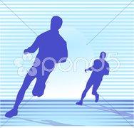 Zwei Läufer Stock Photos