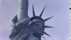 Statue of Liberty NYC USA Manhattan 1970s Vintage Film Home Movie 10014 Stock Footage