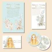 Natural Beauty and  Care. organic products Stock Illustration