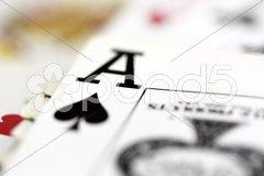 Pik Ass Spielkarte Stock Photos