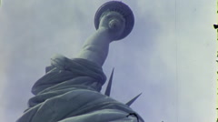 Statue of Liberty NYC USA Manhattan 1970s Vintage Film Home Movie 10013 Stock Footage
