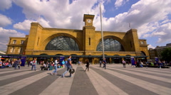 KINGS CROSS RAILWAY STATION NORTH LONDON ENGLAND Stock Footage