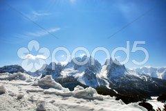 Alps Winter, Dolomites, Italy, 2007 Stock Photos