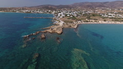 Peninsula off Greek island, aerial Stock Footage