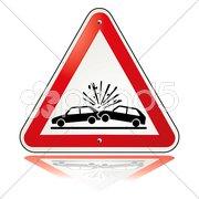 Vorsicht Unfall Stock Photos