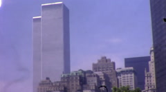 World Trace Center Twin Towers 911 WTC 1970s Vintage Film Home Movie 10006 Stock Footage