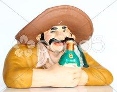 Figur auf dem Tresen aufgelegt Stock Photos