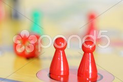 Figuren im Haus Stock Photos