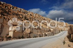 Marmorblöcke aus Tagebau Stock Photos