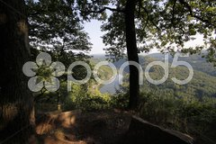 Die Saar vom Aussichtspunkt Cloef aus (Nähe Mettlach) Stock Photos