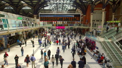 PASSENGER CONCOURSE LIVERPOOL LONDON ENGLAND Stock Footage