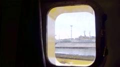 A view through a ship's porthole Stock Footage