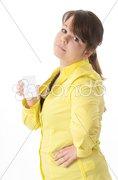 Jugendliche hält leeres Schild Stock Photos