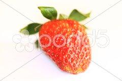 Erdbeeren Macro - Bio Stock Photos