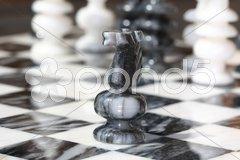 Schachfigur Pferd Stock Photos