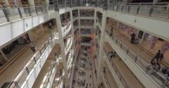Shopping mall Suria KLCC by Petronas Twin Towers, Kuala Lumpur Stock Footage