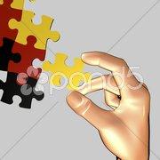 Deutschland Puzzle Stock Photos