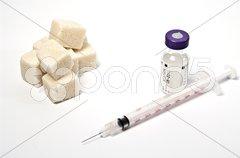 Zucker und Diabetis Stock Photos