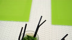 Alcoholic cocktails with mint and lemon Stock Footage
