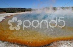 Yellowstone Morning Glory Pool Stock Photos