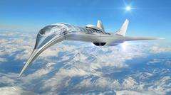 3D illustration of futuristic aircraft Stock Illustration