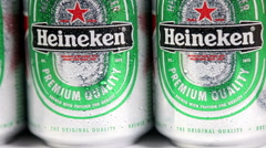 Heineken Dutch brewing company, the largest in the country Stock Footage