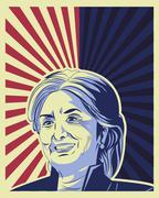 Usa presidential election hillary clinton Stock Illustration