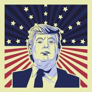 USA presidential election donald trump Stock Illustration