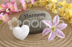 Zen garten Harmonie Stock Photos