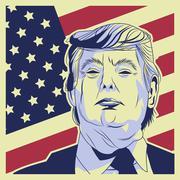 USA presidential election donald trump Stock Illustration
