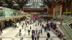 LIVERPOOL STREET STATION BACKGROUND LONDON ENGLAND Stock Footage